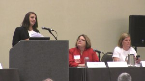 Danielle LeVine speaking at the 33rd Annual Family Law Institute